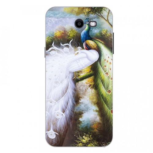 Ốp điện thoại kính cường lực cho máy Samsung Galaxy J3 Prime - chim công phượng MS CPHUONG017