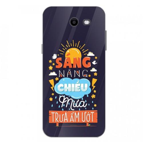 Ốp điện thoại kính cường lực cho máy Samsung Galaxy J3 Prime - châm ngôn sống MS CNGON014