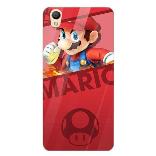 Ốp kính cường lực cho điện thoại Oppo R9 - F1 Plus - super mario MS MARIO022