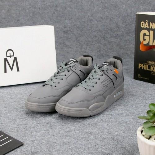 Giày sneaker nam xám dd367 shop địch địch