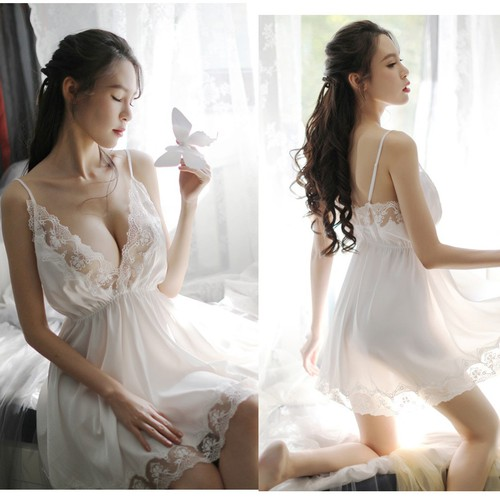 Váy ngủ quyến rũ chất lụa mềm mại cao cấp V613