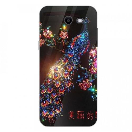 Ốp kính cường lực cho điện thoại Samsung Galaxy J3 Prime - chim công phượng MS CPHUONG007