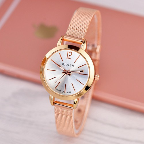 Đồng hồ nữ thời trang siêu xinh dây nhuyễn đẹp chính hãng