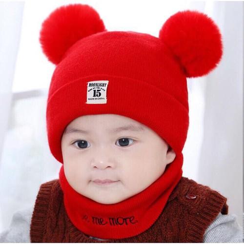 Mũ len 2 quả bông cho bé kèm khăn - 12898257 , 20987453 , 15_20987453 , 65000 , Mu-len-2-qua-bong-cho-be-kem-khan-15_20987453 , sendo.vn , Mũ len 2 quả bông cho bé kèm khăn