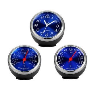 Bộ 3 Đồng hồ Nhiệt kế Ẩm kế dán Taplo - Màu Xanh - TL 00011 thumbnail