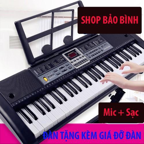 Đàn piano đàn điện đàn organ electronic keyboard đàn 61 phím dành cho người mới học kèm đủ phụ kiện