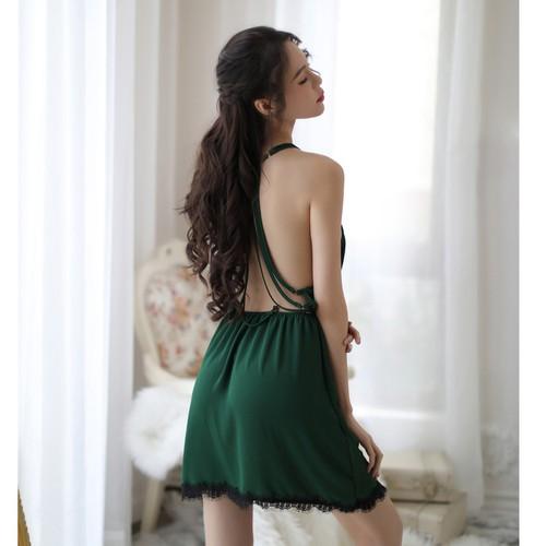 Mẫu mới - váy mặc nhà lưng trần cực xinh v611
