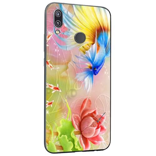 Ốp điện thoại kính cường lực cho máy Huawei Y9 2019 - bộ sưu tập cá MS BSTCA020