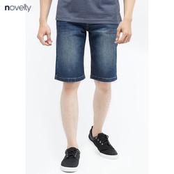 Quần shorts Novelty NSJMMTNCSI1701080 màu xanh dương wash ống