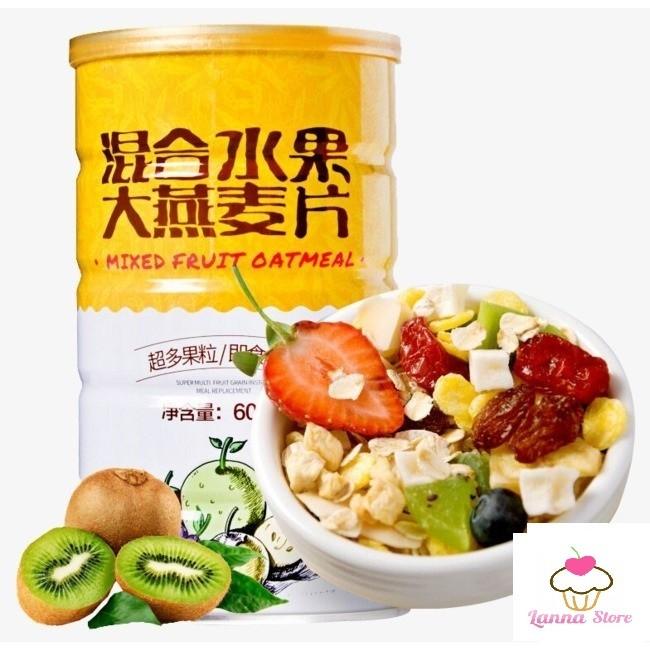 [GIẢM CÂN] Ngũ cốc ăn kiêng mix hạt MIXED FRUIT OATMEAL hộp 1080g - lanna500