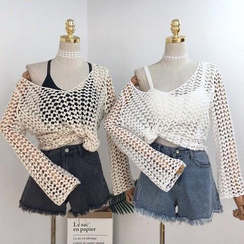 Áo lưới, kimono, áo choàng ngoài bikini đi biển đẹp b03 bán shop ben shop