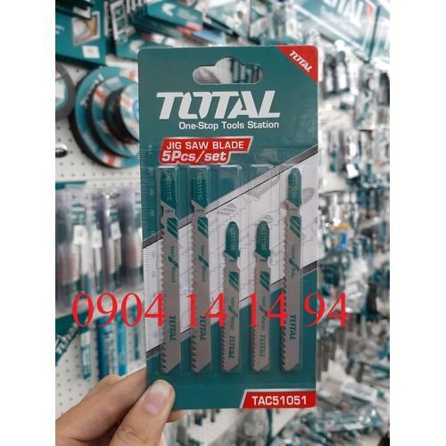 Bộ lưỡi cưa lọng gỗ sắt nhôm 5 chi tiết total tac51051