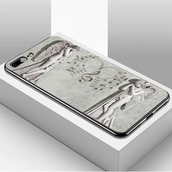 Ốp lưng cứng viền dẻo dành cho điện thoại iPhone 7 Plus  -  8 Plus - hình Điêu Khắc MS DKHAC004