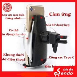 sạc điện thoại ô tô - sạc không dây