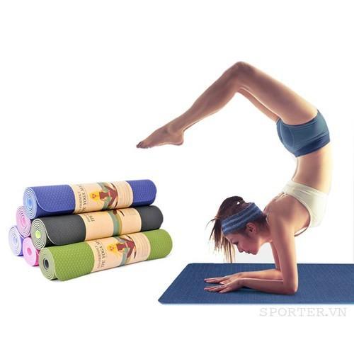 Thảm tập yoga zeno tpe 2 lớp