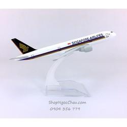 MÔ HÌNH MÁY BAY TĨNH B777 SINGAPORE AIRLINES 16CM