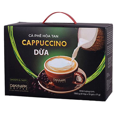 Cà phê cappuccino hoà tan dừa dakmark thơm ngon hộp lớn _ 8 hộp hòa tan dừa nhỏ - ht10cdhl - 12981300 , 21024164 , 15_21024164 , 336000 , Ca-phe-cappuccino-hoa-tan-dua-dakmark-thom-ngon-hop-lon-_-8-hop-hoa-tan-dua-nho-ht10cdhl-15_21024164 , sendo.vn , Cà phê cappuccino hoà tan dừa dakmark thơm ngon hộp lớn _ 8 hộp hòa tan dừa nhỏ - ht10cdhl