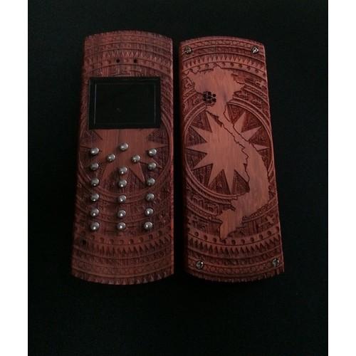 Điện thoại vỏ gỗ nokia 1280 mẫu trống đồng
