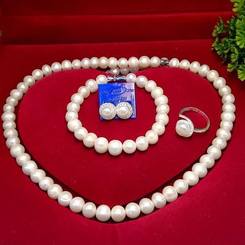 Bộ trang sức ngọc trai trắng ovan nhẹ tự nhiên - 13038493 , 21068231 , 15_21068231 , 2000000 , Bo-trang-suc-ngoc-trai-trang-ovan-nhe-tu-nhien-15_21068231 , sendo.vn , Bộ trang sức ngọc trai trắng ovan nhẹ tự nhiên