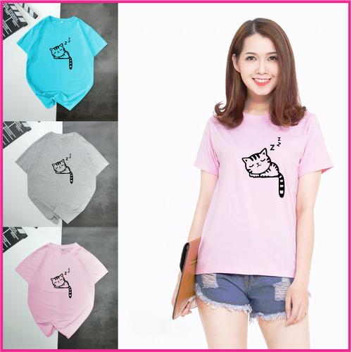 Áo thun nữ tay ngắn cổ tròn in hình mèo cute đủ màu trắng, xanh, xám, hồng phù hợp đi chơi hoặc đi du lịch - 13018328 , 21041042 , 15_21041042 , 25000 , Ao-thun-nu-tay-ngan-co-tron-in-hinh-meo-cute-du-mau-trang-xanh-xam-hong-phu-hop-di-choi-hoac-di-du-lich-15_21041042 , sendo.vn , Áo thun nữ tay ngắn cổ tròn in hình mèo cute đủ màu trắng, xanh, xám, hồng ph