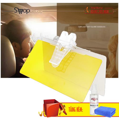 Kính chống lóa ngày và đêm trên xe ô tô x02 tặng kèm chai phủ nano và khăn lau cao cấp