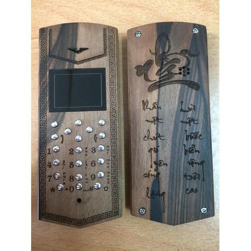Điện thoại vỏ gỗ nokia 1202 tốt mẫu chữ nhẫn