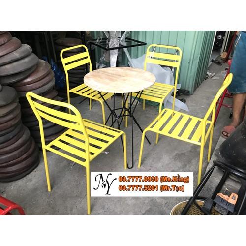 Bộ ghế sắt la sơn tĩnh điện