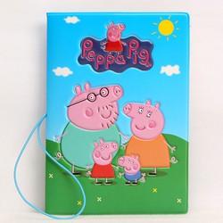 Vỏ hộ chiếu Passport hoạt hình Peppa Pig + Tặng kèm 1 thẻ hành lý trơn