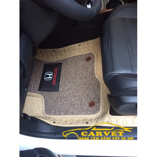 Thảm lót sàn ô tô 8d cao cấp kèm thảm rối chống bẩn dành cho xe crv