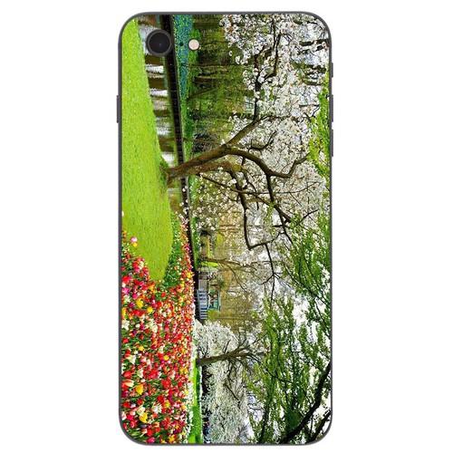 Ốp lưng cứng viền dẻo dành cho điện thoại iphone 7  -  8 - vườn hoa ms vhoa004