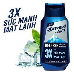 Dầu gội X Men Go REFRESH 3X 3 Loại Bạc Hà 370G