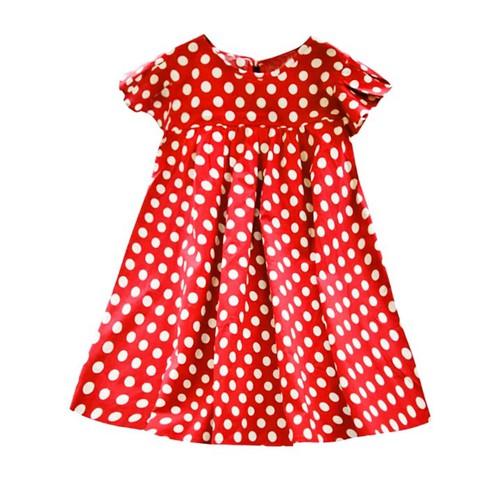 Đầm xòe chấm bi cánh tiên cho bé gái 3-7 tuổi diện đi tiệc – d040