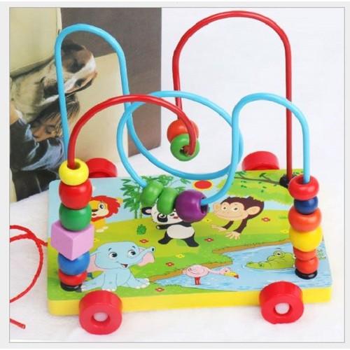 Đồ chơi luồn hạt xe kéo - đồ chơi gỗ