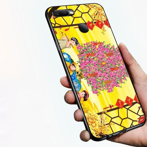 Ốp điện thoại dành cho máy oppo a7 2018 - tranh mai đào ms mdao040