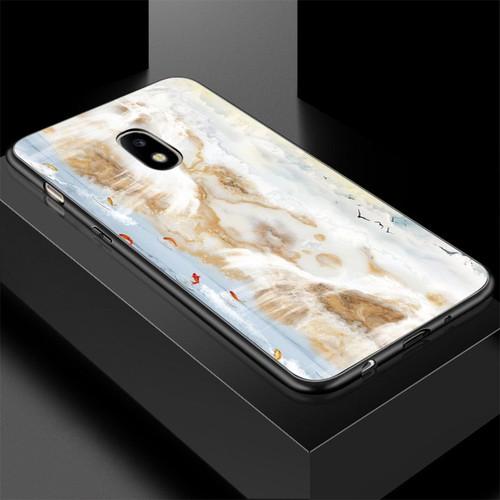 Ốp lưng cứng viền dẻo dành cho điện thoại samsung galaxy j7 2015 - hình vân đá ms vanda040