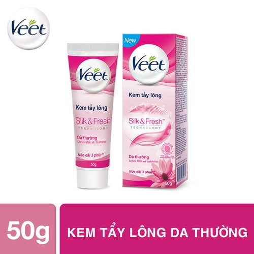 Kem tẩy lông cho da thường Veet Silk Fresh 50g - 11855833 , 20998035 , 15_20998035 , 59000 , Kem-tay-long-cho-da-thuong-Veet-Silk-Fresh-50g-15_20998035 , sendo.vn , Kem tẩy lông cho da thường Veet Silk Fresh 50g