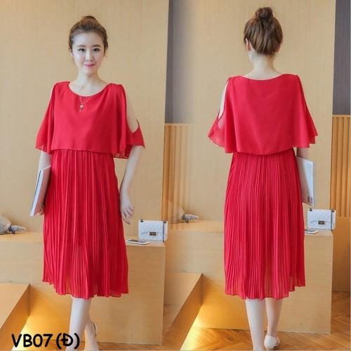 Váy bầu đầm bầu voan đỏ - 13041673 , 21072898 , 15_21072898 , 370000 , Vay-bau-dam-bau-voan-do-15_21072898 , sendo.vn , Váy bầu đầm bầu voan đỏ