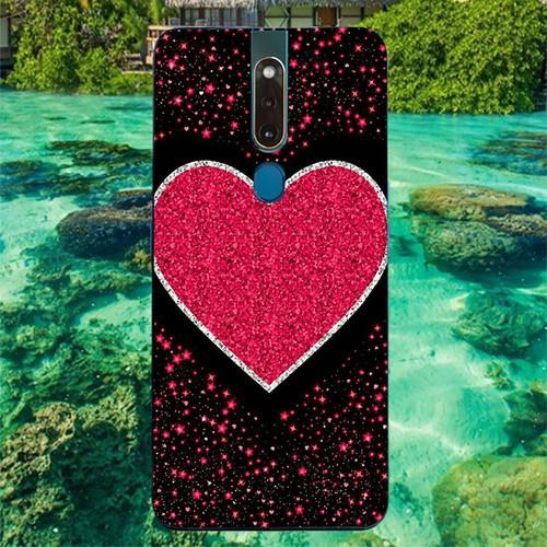 Ốp lưng điện thoại oppo f11 - trái tim tình yêu ms love011