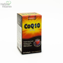 Viên Uống CoQ10 30mg - Pharmekal - 30 Viên - Hỗ Trợ Tim Mạch, Chống Lão Hóa