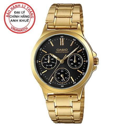 Đồng hồ casio nữ ltp-v300g-1audf