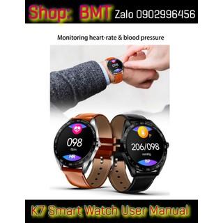Đồng hồ thông minh K7 đo nhịp tim huyết áp cho Xiaomi Huawei iPhone - DLK3693 thumbnail