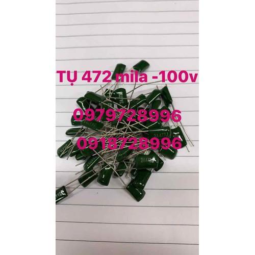 Tụ mila xanh 472-100v gói 50 cái