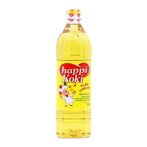 Combo 12 chai dầu ăn happi koki 1l
