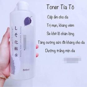 Toner lotion nước hoa hồng tía tô Dokudami trị mụn 500ml Nhật Bản - NHHTIATO