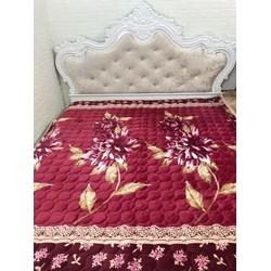 Thảm nhung trải giường hoa văn