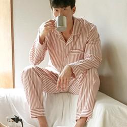 Đồ bộ mặc nhà nam cao cấp thiết kế tinh tế xọc hồng tao nhã-214
