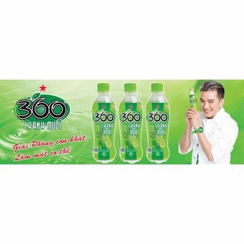 Nước chanh muối 360 độ 1 lốc 6 chai