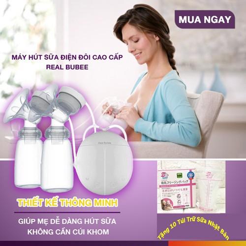 Máy hút sữa giá rẻ - tặng kèm 10 túi trữ sữa