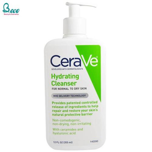 Sữa rửa mặt cerave hydrating facial cleanser cho da thường và da khô