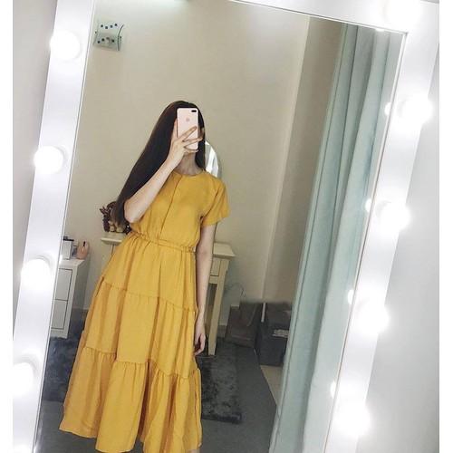 Đầm xoè nữ voan dễ thương